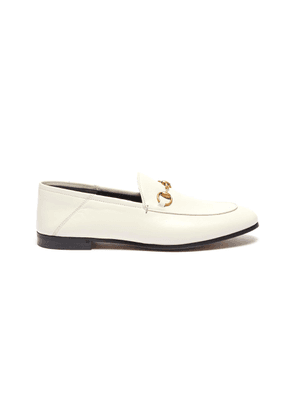 'Brixton' horsebit leather step-in loafers