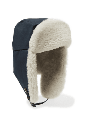 Best Made Company - Rcmp Cotton-ventile And Shearling Trapper Hat - Navy