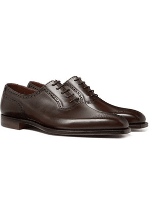 George Cleverley - Anthony Leather Oxford Brogues - Dark brown