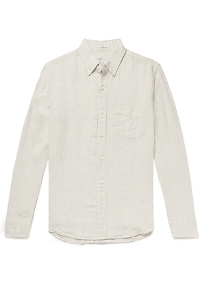 J.Crew - Slim-fit Button-down Collar Linen Shirt - Sand