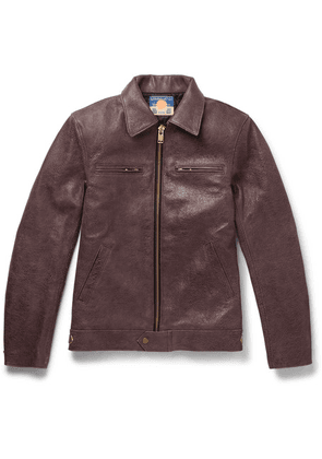 Blackmeans - Distressed Leather Jacket - Brown