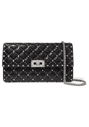 Valentino - Valentino Garavani The Rockstud Spike Quilted Leather Clutch - Black