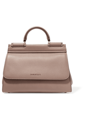 Dolce & Gabbana - Sicily Small Textured-leather Tote - Beige