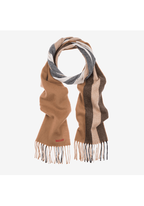 Solid Stripe Wool Mix Scarf