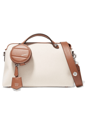 Fendi - By The Way Small Two-tone Canvas And Leather Shoulder Bag - Brown