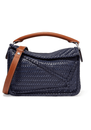 Loewe - Puzzle Small Woven Leather Shoulder Bag - Navy