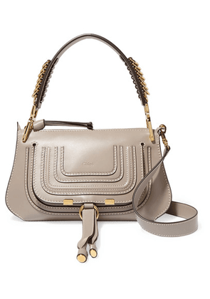 Chloé - Marcie Small Leather Shoulder Bag - Gray
