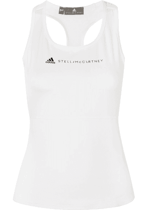 adidas by Stella McCartney - + Parley For The Oceans Essentials Mesh-paneled Climalite Tank - White