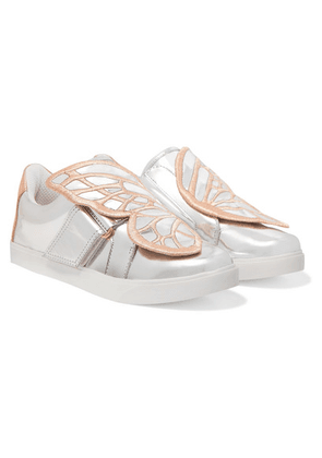 Sophia Webster Kids - Size 27 - 34 Bibi Butterfly Embroidered Mirrored-leather Sneakers