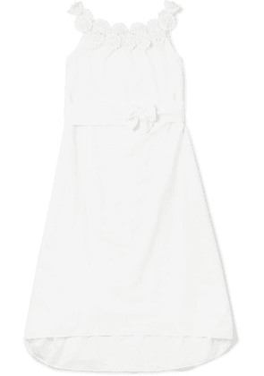 Miguelina Kids - Felicity Crocheted Cotton Dress - White