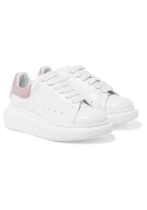 Alexander McQueen Kids - Suede-trimmed Leather Exaggerated-sole Sneakers - Pink