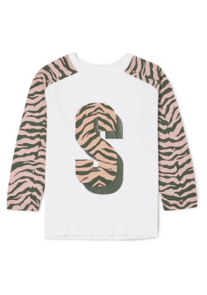 Stella McCartney Kids - Zebra-print Organic Cotton-jersey T-shirt - White