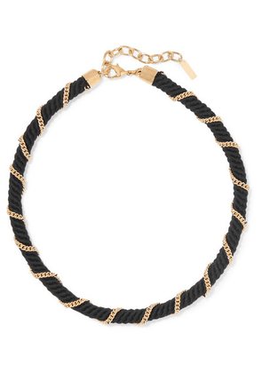 SAINT LAURENT - Rope And Gold-tone Choker - Black
