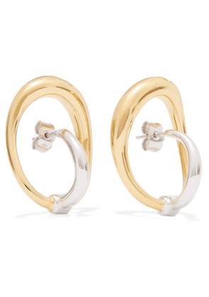 Charlotte Chesnais - Turtle Gold Vermeil And Silver Earrings - one size