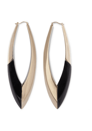 SAINT LAURENT - Gold-tone And Enamel Earrings - Black