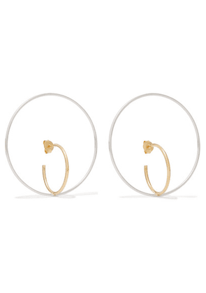 Charlotte Chesnais - Saturn Large Gold Vermeil And Silver Earrings - one size