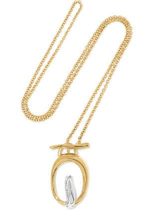 Charlotte Chesnais - Turtle Gold Vermeil And Silver Necklace - one size