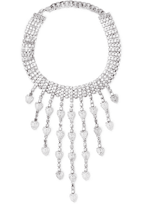 Alessandra Rich - Silver-tone Crystal Choker - one size
