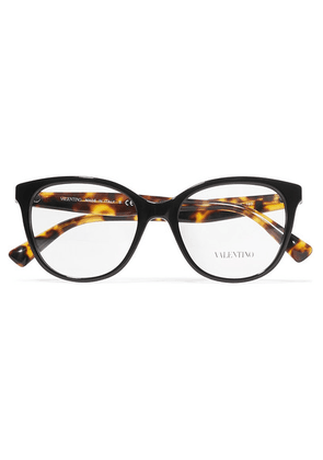 Valentino - Valentino Garavani D-frame Acetate Optical Glasses - Black