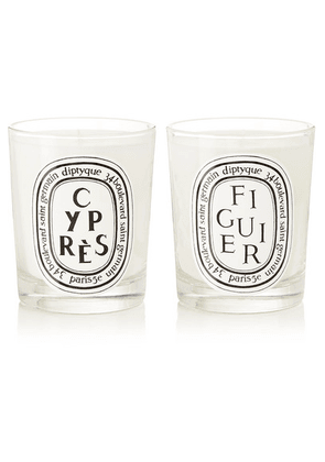 Diptyque - Figuier And Cyprès Set Of Two Scented Candles, 2 X 190g - one size