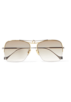 Loewe - Aviator-style Silver And Gold-tone Sunglasses - one size