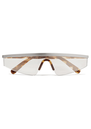 COURREGES - D-frame Tortoiseshell Acetate And Silver-tone Sunglasses - One size