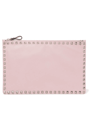 Valentino - Valentino Garavani The Rockstud Large Leather Pouch - Pink