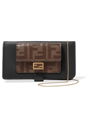 Fendi - Printed Leather Iphone X And Xs Case - Black