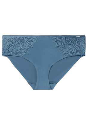 Chantelle - Pyramide Stretch-jersey And Lace Briefs - Mid denim