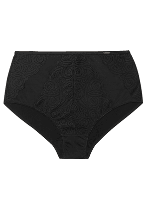 Chantelle - Pyramide Stretch-jersey, Tulle And Lace Briefs - Black