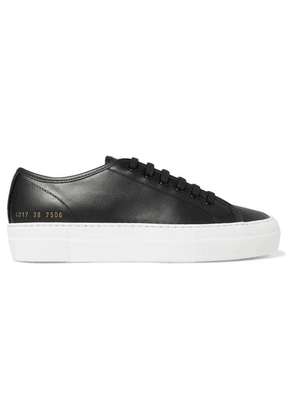 Common Projects - Tournament Leather Sneakers - Black