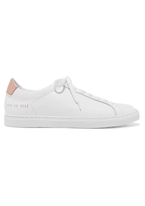 Common Projects - Retro Metallic-paneled Leather Sneakers - White