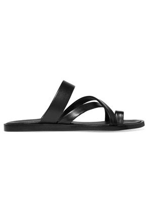 Common Projects - Leather Sandals - Black