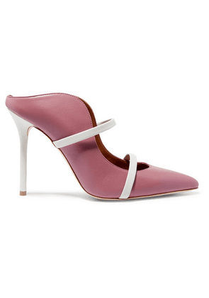 Malone Souliers - Maureen 100 Leather Mules - Antique rose