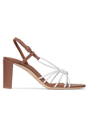 Malone Souliers - Brinette 70 Two-tone Knotted Leather Sandals - White