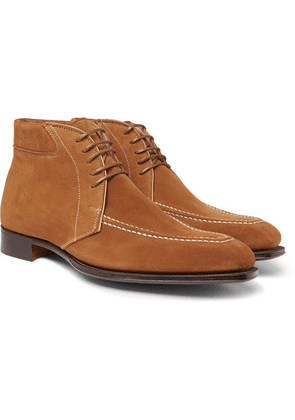 George Cleverley - Beattie Suede Boots - Brown