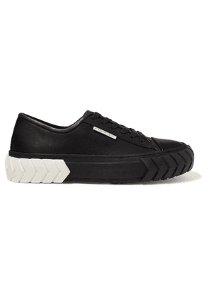 both - Tyres Leather Sneakers - Black