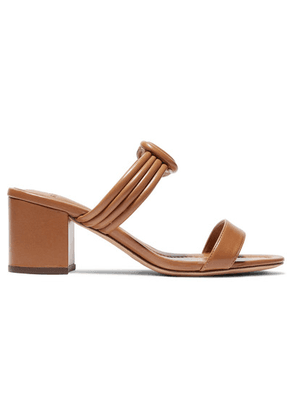 Alexandre Birman - Vicky Knotted Leather Mules - Light brown