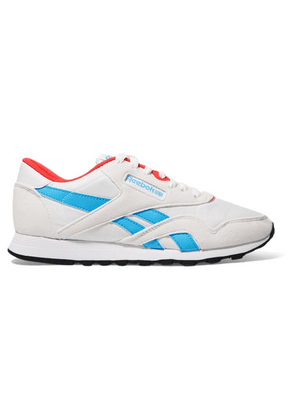 Reebok - Classic Nylon, Suede And Leather Sneakers - White