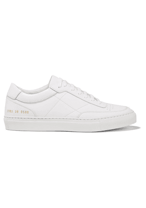 Common Projects - Resort Classic Perforated Leather Sneakers - White
