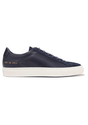 Common Projects - Original Achilles Leather And Suede Sneakers - Navy