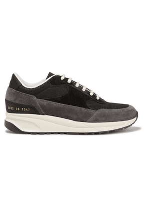 Common Projects - Track Classic Suede And Mesh Sneakers - Black