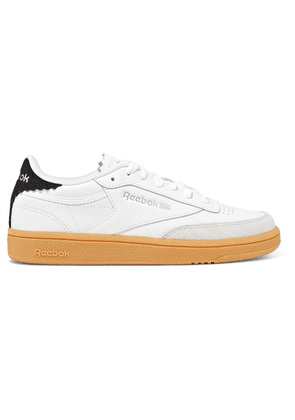 Reebok - Club C 1985 Suede-trimmed Leather Sneakers - White