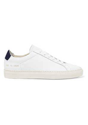 Common Projects - Retro Two-tone Leather Sneakers - White