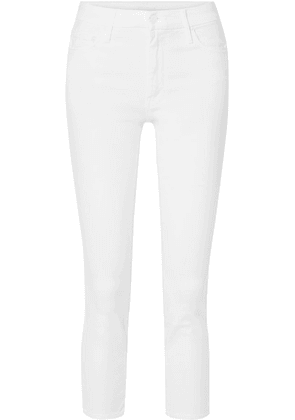 Mother - The Looker Cropped High-rise Skinny Jeans - White