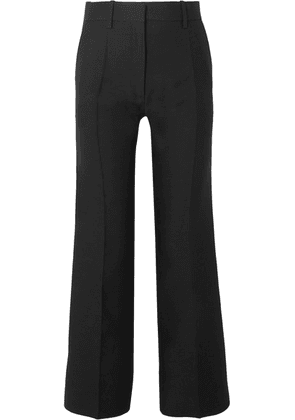 Valentino - Wool And Silk-blend Straight-leg Pants - Black