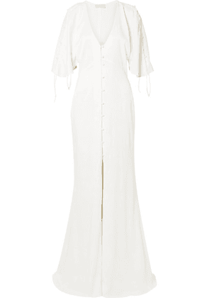 Vanessa Cocchiaro - The Hedy Ruched Matte-satin Gown - Ivory