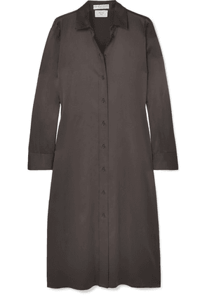 Bottega Veneta - Stretch-silk Satin Shirt Dress - Brown