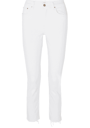 GRLFRND - Reed Cropped Mid-rise Slim-leg Jeans - White