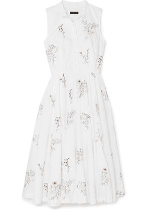 J.Crew - Maison Embellished Embroidered Cotton-poplin Midi Dress - White